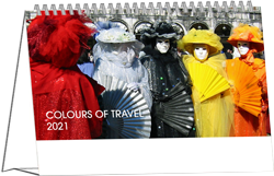 Desk calendar 2021 Colours of Travel Cover