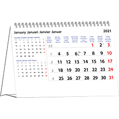 Desk calendar 2021 International