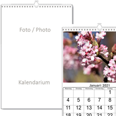 Wall calendars tailor-made